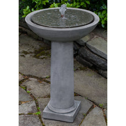 Cirrus Birdbath Water Fountain, Garden Outdoor Fountains - Outdoor Fountain Pros