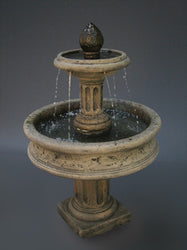 Column Base Tiered Water Fountain - Outdoor Fountain Pros
