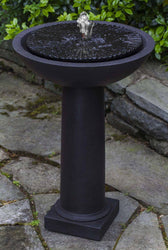 Equinox Birdbath Garden Water Fountain