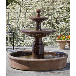 Esplanade Two Tier Garden Water Fountain, Tiered Outdoor Fountains - Outdoor Fountain Pros