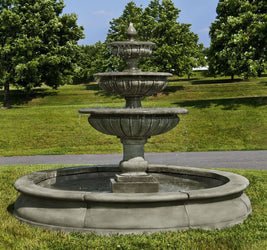 Estate Longvue Outdoor Water Fountain, Large Outdoor Fountains - Outdoor Fountain Pros