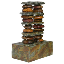 Eternity Stacked Rocks Tabletop Fountain - Outdoor Fountain Pros