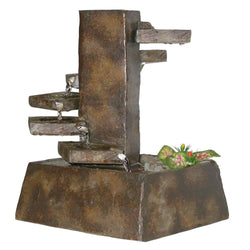 Eternity Tiered Stone Tabletop Fountain - Outdoor Fountain Pros