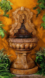 Europa Murabella Lion Wall Outdoor Fountain, Wall Outdoor Fountains - Outdoor Fountain Pros