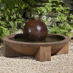 Low Zen Sphere Garden Water Fountain