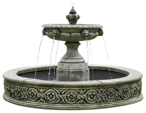 Parisienne One Tier Outdoor Water Fountain, Tiered Outdoor Fountains - Outdoor Fountain Pros