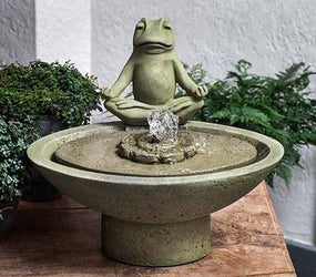 Garden Terrace Meditation Water Fountain, Garden Outdoor Fountains - Outdoor Fountain Pros