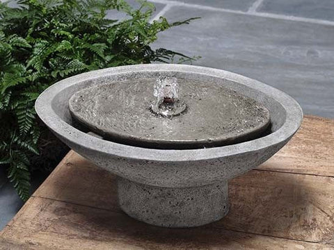 Zen Oval Garden Water Fountain, Garden Outdoor Fountains - Outdoor Fountain Pros