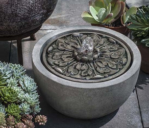 M-Series Medallion Garden Water Fountain, Garden Outdoor Fountains - Outdoor Fountain Pros