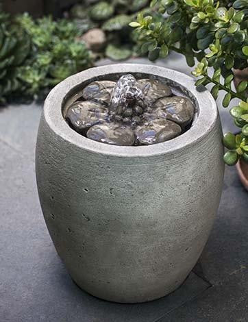 M-Series Camellia Garden Water Fountain, Garden Outdoor Fountains - Outdoor Fountain Pros