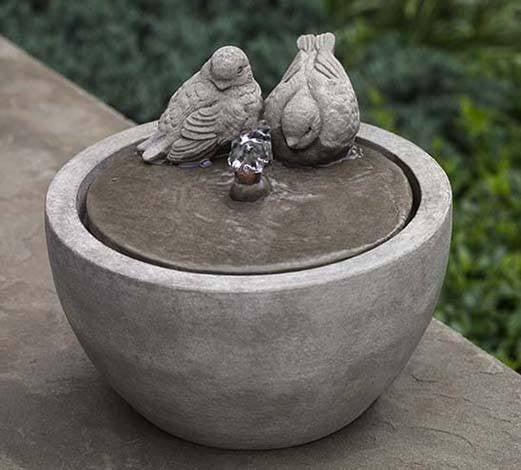 M Series Bird Small Water Fountain, Garden Outdoor Fountains   Outdoor  Fountain Pros ...