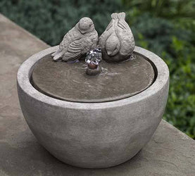 M-Series Bird Garden Water Fountain, Garden Outdoor Fountains - Outdoor Fountain Pros