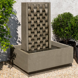 M Weave Garden Fountain - Outdoor Fountain Pros