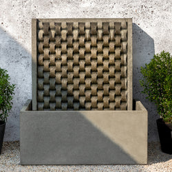 Large M Weave Wall Outdoor Fountain - Outdoor Fountain Pros