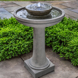 Meridian Pedestal Fountain - Outdoor Fountain Pros