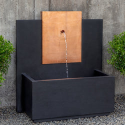 MC3 Wall Outdoor Fountain - Copper - Outdoor Fountain Pros