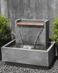 Falling Water II Garden Fountain - Outdoor Fountain Pros