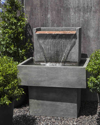 Falling Water I Garden Fountain - Outdoor Fountain Pros