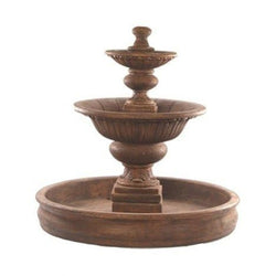 Formal Tiered Outdoor Fountain With 74 Inch Basin