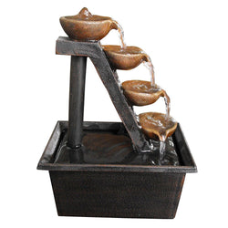 Four Tiered Step Tabletop Fountain - Outdoor Fountain Pros