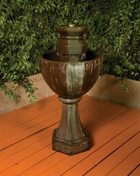 Augusta Garden Water Fountain, Urn Outdoor Fountains - Outdoor Fountain Pros