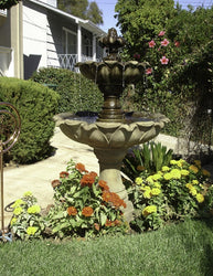 Gardenia Two Tier Fountain - Outdoor Fountain Pros