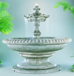 Grande Palazzo Fleur de Lys Fountain, Large Outdoor Fountains - Outdoor Fountain Pros