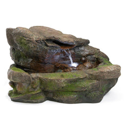 Kimball Rock Fountain w/LED Lights, Garden Outdoor Fountains - Outdoor Fountain Pros