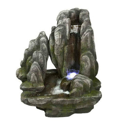 Placid Rock Fountain w/LED Lights, Garden Outdoor Fountains - Outdoor Fountain Pros