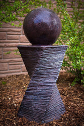 Floating Sphere Garden Fountain - Outdoor Fountain Pros