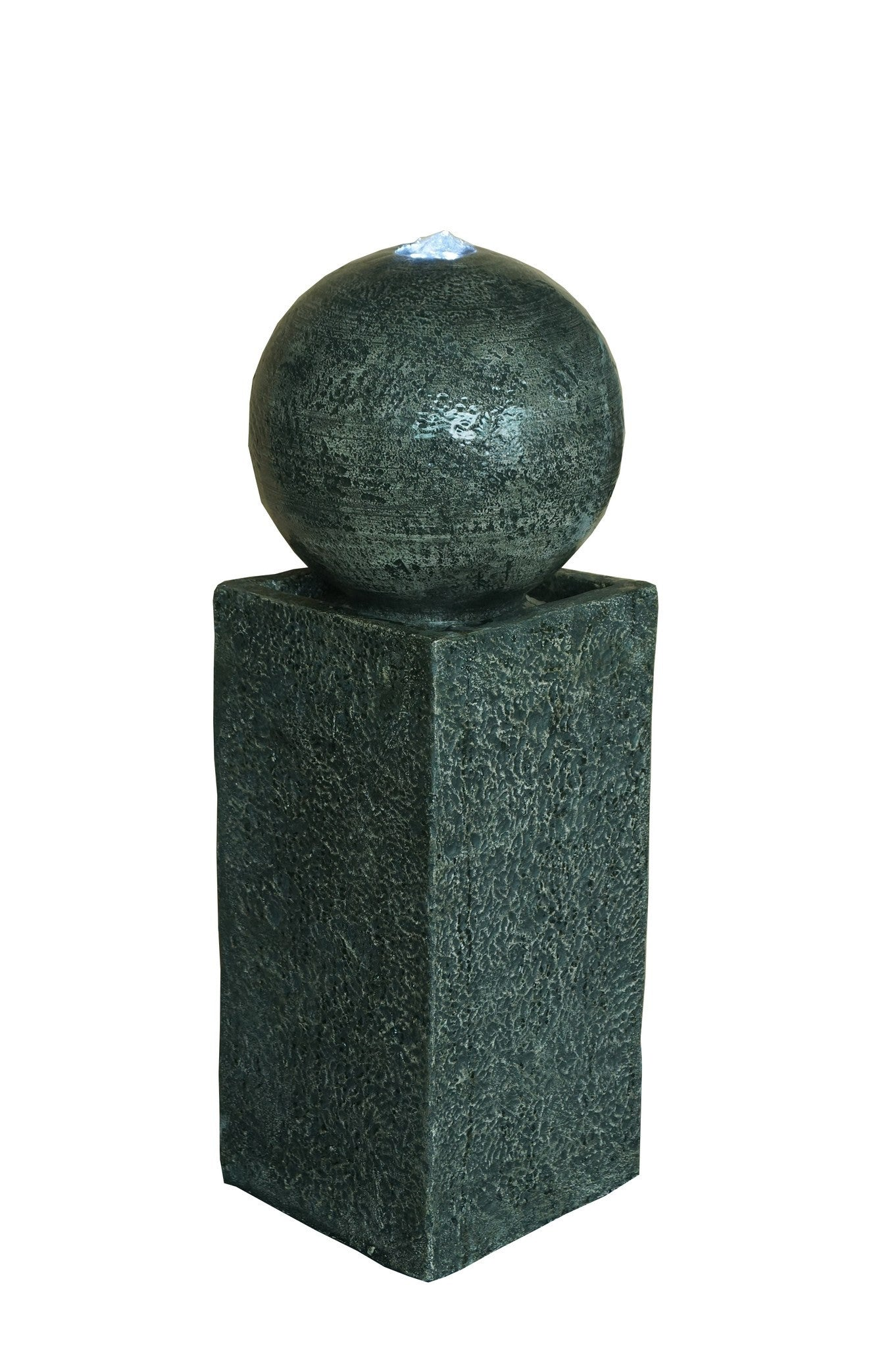 """29"""" Floating Sphere Pedestal Fountain With LED Lights"""