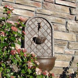 The Milano Outdoor Wall Fountain - Outdoor Fountain Pros