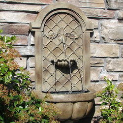 The Manchester Wall Garden Fountain - Outdoor Fountain Pros