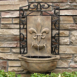 The Bordeaux Outdoor Wall Fountain - Outdoor Fountain Pros
