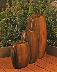Hybrid 3-Part Garden Water Fountain, Urn Outdoor Fountains - Outdoor Fountain Pros