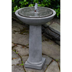 Hydrangea Leaves Birdbath Garden Water Fountain