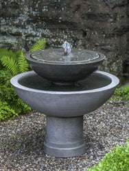 Hydrangea Leaves Two Tier Garden Water Fountain, Tiered Outdoor Fountains - Outdoor Fountain Pros