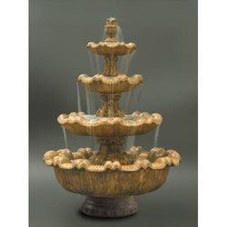 Italian 4-Tier Outdoor Water Fountain, Tiered Outdoor Fountains - Outdoor Fountain Pros