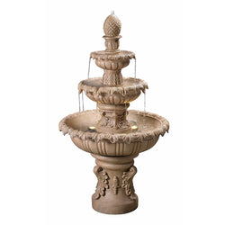 Ibiza Tiered Outdoor Fountain in Sandstone Finish - Outdoor Fountain Pros