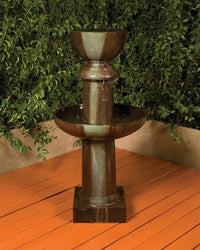 Ion Garden Water Fountain, Tiered Outdoor Fountains - Outdoor Fountain Pros