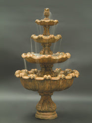 Italian 4-Tier Outdoor Fountain - Tall - Outdoor Fountain Pros