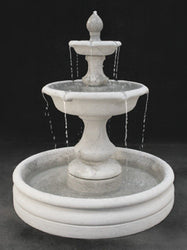 "Verona Tiered Outdoor Fountain, Small with 46"" Basin, Tiered Outdoor Fountains - Outdoor Fountain Pros"