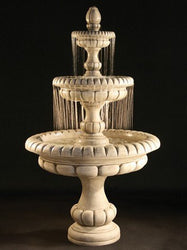 Pioggia Tiered Outdoor Fountain - Large, Tiered Outdoor Fountains - Outdoor Fountain Pros