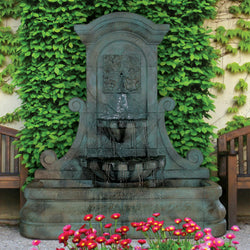 LaMura Four Seasons Flat Wall Fountain - Outdoor Fountain Pros