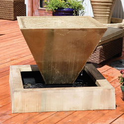 Large Oblique Outdoor Fountain - Outdoor Fountain Pros