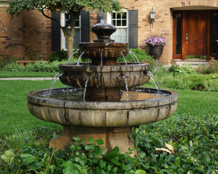 Large Regal Tier Outdoor Fountain, Tiered Outdoor Fountains - Outdoor Fountain Pros
