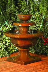 Liveo Garden Water Fountain, Tiered Outdoor Fountains - Outdoor Fountain Pros