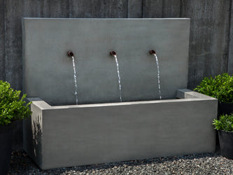 Long Beach Wall Outdoor Fountain - Wall Outdoor Fountains - Outdoor Fountain Pros