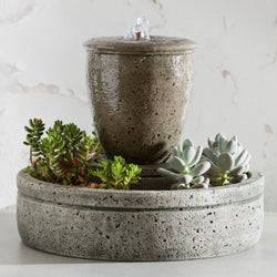 M-Series Rustic Spa Garden Terrace Fountain with Planter