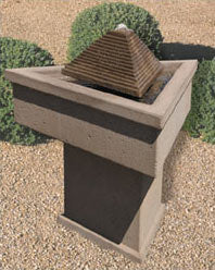 Concrete Maya Fountain - Outdoor Fountain Pros